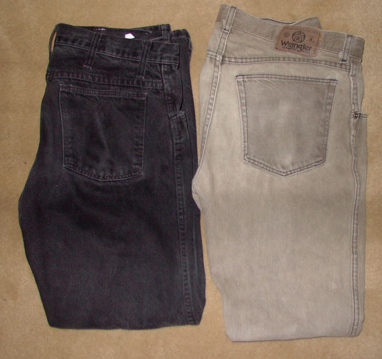 Bleaching and Re-coloring Wrangler Jeans